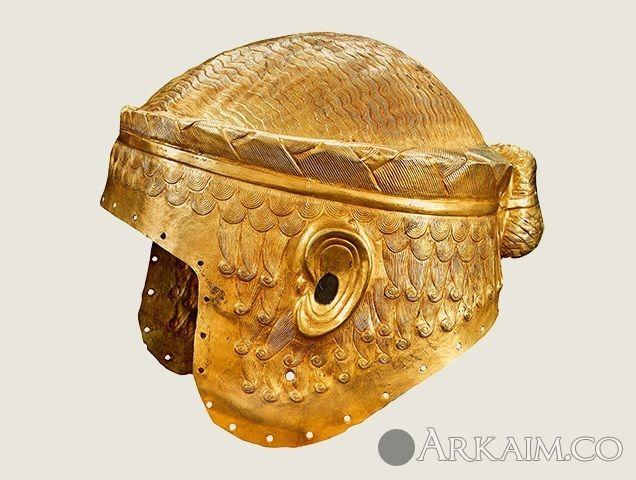 10123383 Золотой шлем корона правителя города Ур по имени Мескаламдуг. Бывший экспонат музея в Багдаде. Ныне утерян
