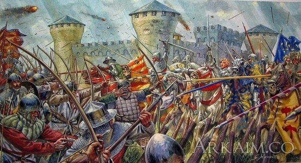 a summary of the three major conflicts of the hundred years war between england and france the edwar Definition of the rise of monarchies: france, england, and part of the hundred years' war, france and england did not have of his three children—edward.