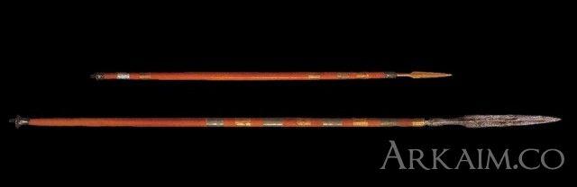 10123364 Копье и дротик из гробницы правителя Мескаламдуга из города Ур. Коллекция Национального музея Ирака, Багдад