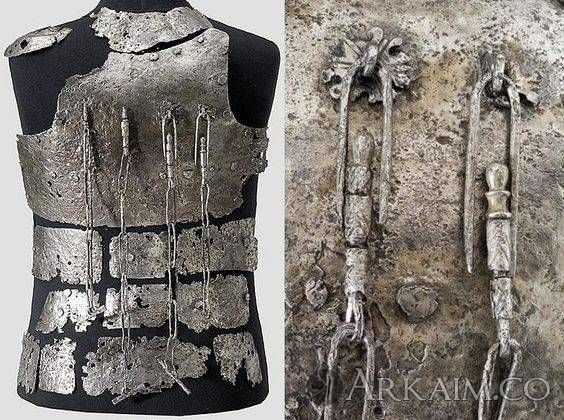 1501572035 6. 14th C from The castle hirschenstein near passau consisting Of A chest plate with four weapon chains 30 plates