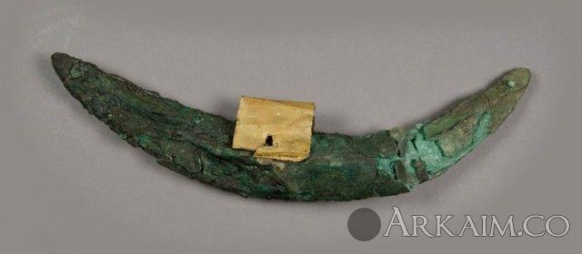 10123268 Бронзовая секира стражника из гробницы Пуаби в Уре. Британский музей, Лондон