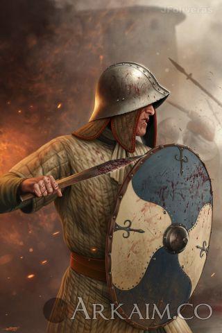 joan francesc oliveras pallerols carolingian infantryman